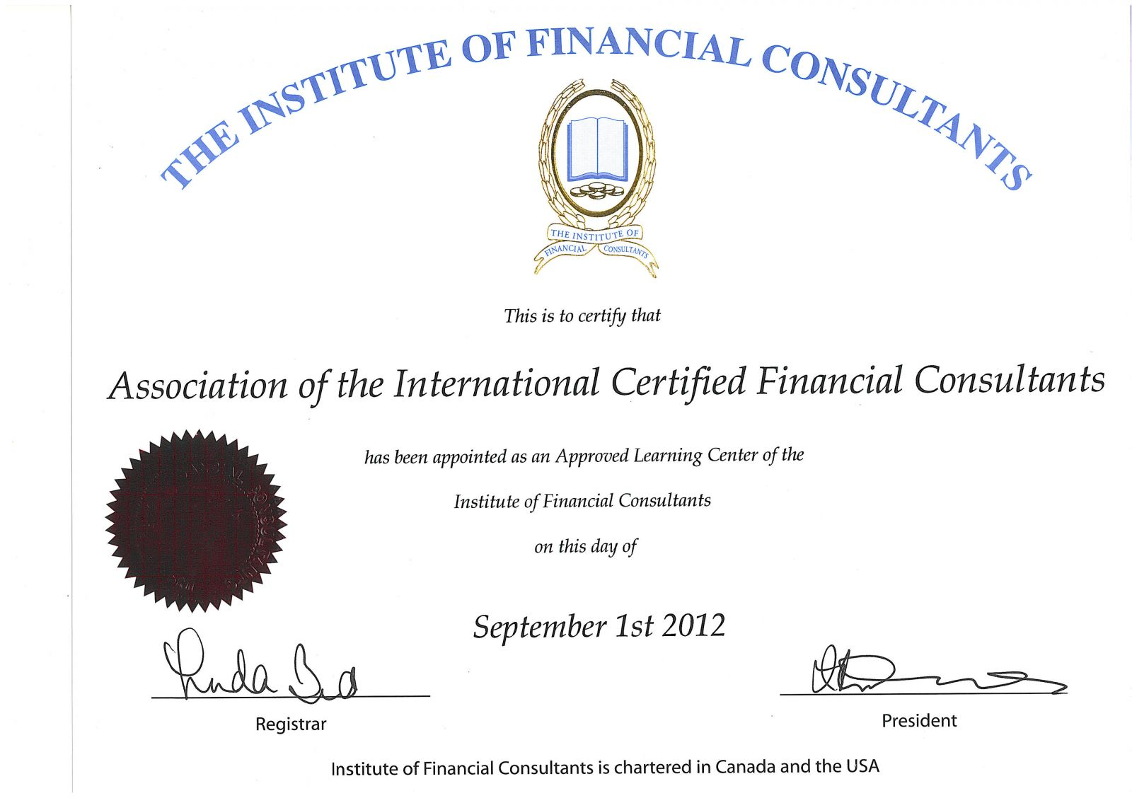 Association Of The International Certified Financial Consultants